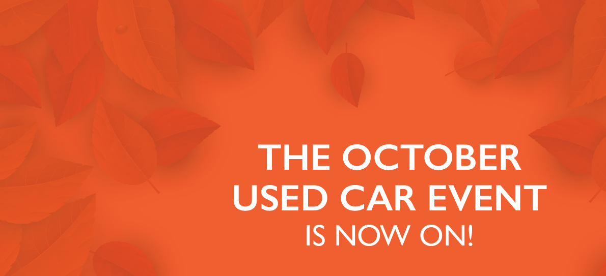 October Used Car Event