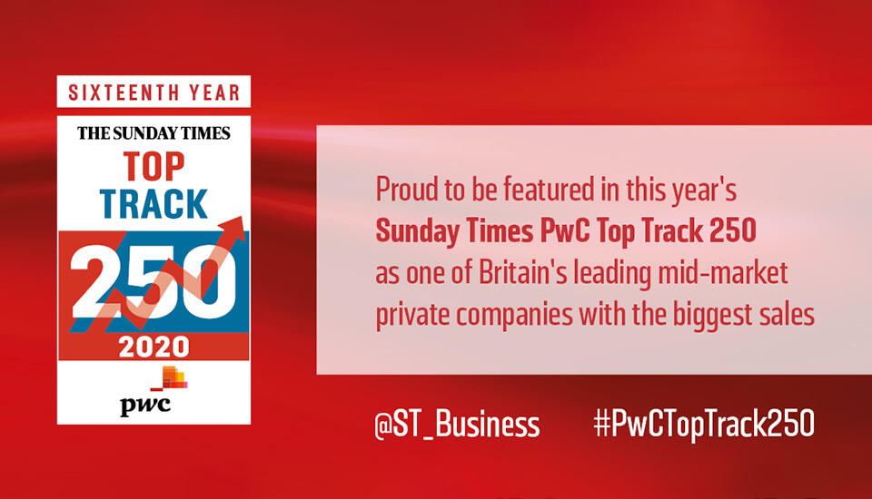 Arbury features in Sunday Times PwC Top Track 250 for 2020
